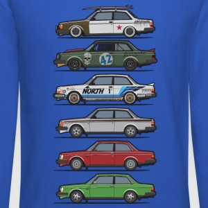 Stack of Volvo 240 Series 242 Brick Coupes Long Sleeve Shirts - Crewneck Sweatshirt