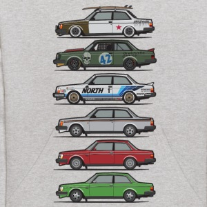 Stack of Volvo 240 Series 242 Brick Coupes Sweatshirts - Kids' Hoodie