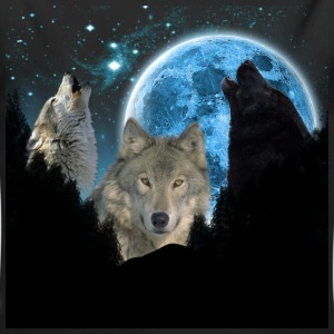 Wolves Twilight Blue Moon C.png Baby & Toddler Shirts - Long Sleeve Baby Bodysuit