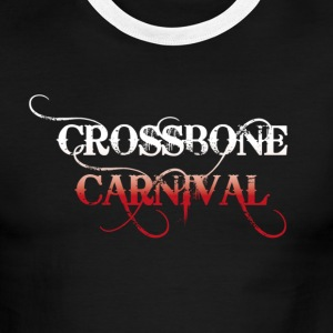 Crossbone Carnival Two colour T Shirt - Men's Ringer T-Shirt