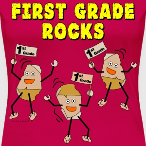 First Grade Rocks Women's T-Shirts - Women's Premium T-Shirt