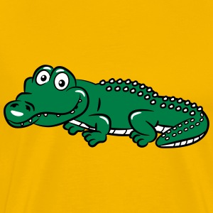 crocodile funny T-Shirts - Men's Premium T-Shirt