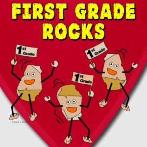 First Grade Rocks Caps - Bandana