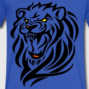 darr lion head 3 T-Shirts - Men's V-Neck T-Shirt by Canvas
