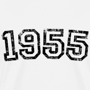 Year 1955 Vintage Birthday T-Shirt (Men/White) - Men's Premium T-Shirt