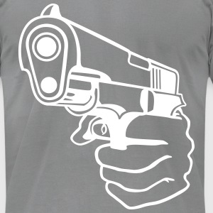 Handgun T-Shirts - Men's T-Shirt by American Apparel