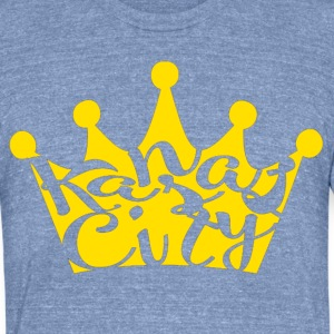 mustard crown kansas city T-Shirts - Unisex Tri-Blend T-Shirt by American Apparel