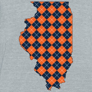 illinois.png T-Shirts - Unisex Tri-Blend T-Shirt by American Apparel