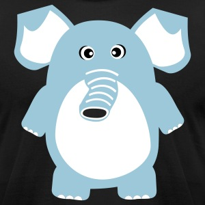 Cute Elephant T-Shirts - Men's T-Shirt by American Apparel