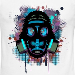maskenaffe_blau_splash T-Shirts - Men's Ringer T-Shirt