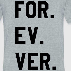 FOREVER - Unisex Tri-Blend T-Shirt by American Apparel