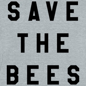 Save The Bees - Unisex Tri-Blend T-Shirt by American Apparel