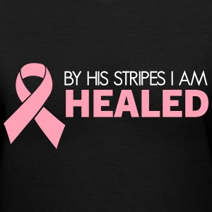 Breast Cancer Survivor (Dark) T-Shirts - Women's V-Neck T-Shirt
