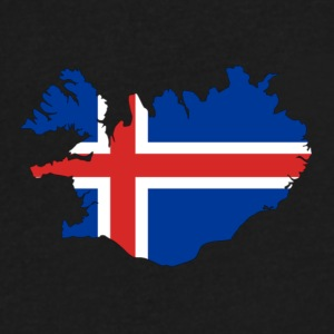 Flag of Iceland - Men's V-Neck T-Shirt by Canvas