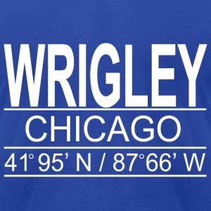 Wrigley Coordinates - Men's T-Shirt by American Apparel