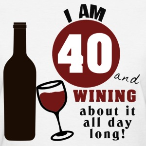 40th Birthday Funny Wine Shirt - Women's T-Shirt