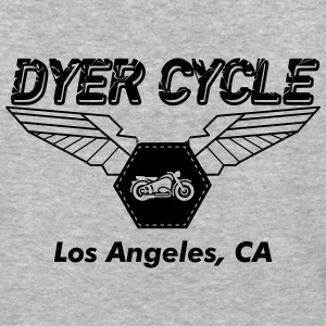 Dyer Cycle Winged Logo - Baseball T-Shirt