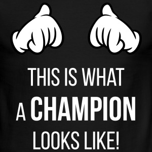 This Is What A Champion Looks Like! (Hands / Neg) - Men's Ringer T-Shirt