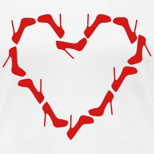 High Heels Heart Shirt - Women's Premium T-Shirt