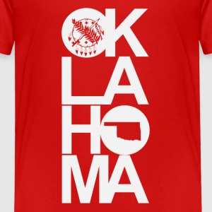 Oklahoma Flag -Letters Baby & Toddler Shirts - Toddler Premium T-Shirt