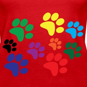 Colorful dog paws Tanks - Women's Premium Tank Top