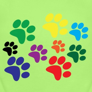 Colorful dog paws Baby & Toddler Shirts - Short Sleeve Baby Bodysuit