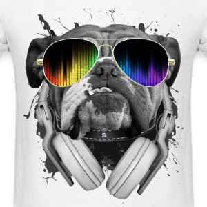 Bulldog Dj - Men's T-Shirt