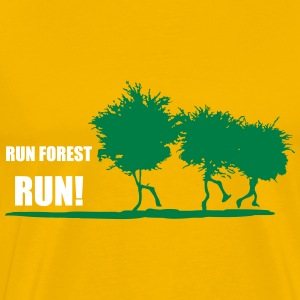 RUN FOREST RUN T-Shirts - Men's Premium T-Shirt