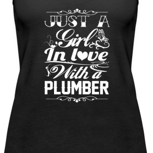 In love with Plumber - Women's Premium Tank Top