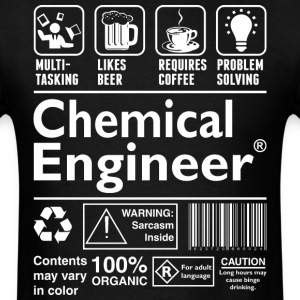 Beer Coffee Problem Solving Chemical Engineer - Men's T-Shirt