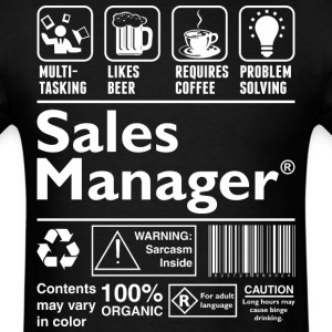 Beer Requires Coffee Problem Solving Sales Manager - Men's T-Shirt