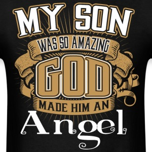 Son,Amazing,God,Made,Angel,Awesome - Men's T-Shirt
