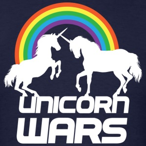 Unicorn Wars Rainbow T-shirt - Men's T-Shirt