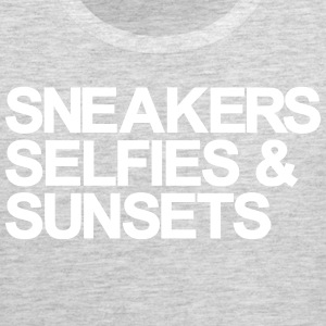 Sneakers Selfies Sunset Tank Tops - Men's Premium Tank