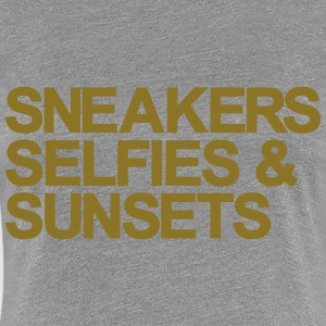 Sneakers Selfies Sunset Women's T-Shirts - Women's Premium T-Shirt