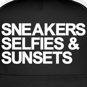 Sneakers Selfies Sunset Caps - Trucker Cap