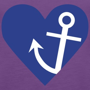 Anchor with heart Tanks - Women's Premium Tank Top
