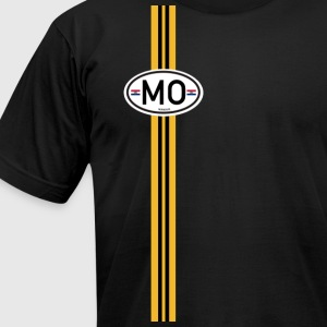 Missouri Racing Stripe 5 T-Shirts - Men's T-Shirt by American Apparel