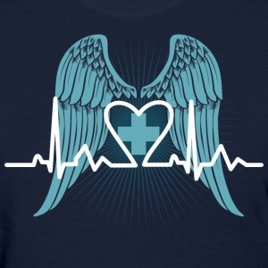 Nurse Wings Heartbeat - Women's T-Shirt