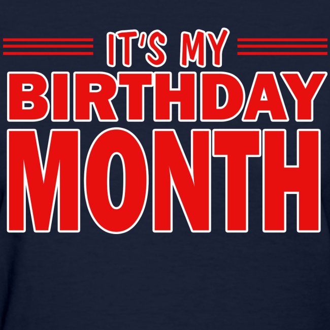 The best birthday shirts its my birthday month womens - Its my birthday month images ...