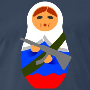 Matryoshka with machine gun Shirt - Men's Premium T-Shirt