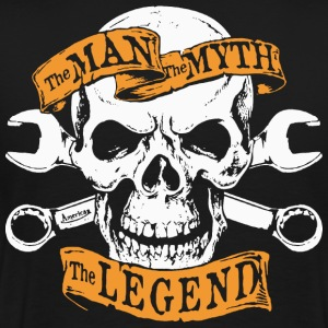 Papa The Man The Myth The Legend T-Shirt - Men's Premium T-Shirt