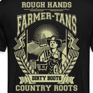 Farmer Dirty boots, i'm a farmer t-shirts - Men's Premium T-Shirt