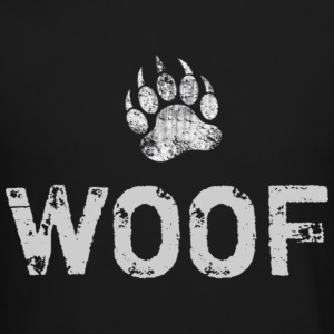 Distressed Bear Paw WOOF - Crewneck Sweatshirt