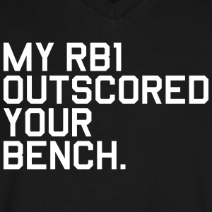 My RB1 Outscored your Bench. (Fantasy Football) - Men's V-Neck T-Shirt by Canvas