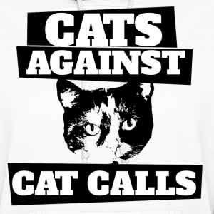Cats against catcalls feminist saying - Women's Hoodie