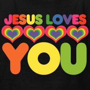 Jesus loves you christian kid - Kids' T-Shirt
