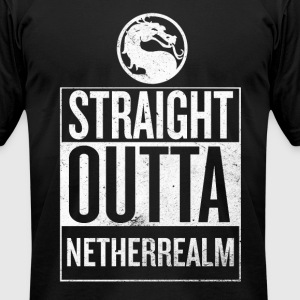 Straight Outta NetherReam - Men's T-Shirt by American Apparel