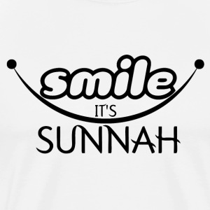 smile it's sunnah T-Shirts - Men's Premium T-Shirt