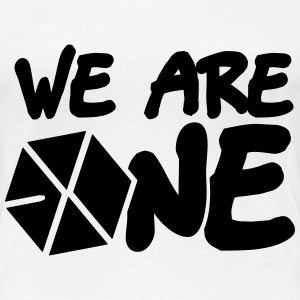 EXO - We are One! (Black Flex Print) [Men's Shirt] - Women's Premium T-Shirt